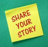 Partagez votre histoire Photo libre de droits