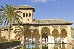 Partal, Альгамбра, Гранада. Стоковая Фотография