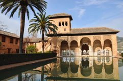 The partal, the Alhambra. Area the Partal, next to the Nasrid palaces, at the Alhambra, Granada, Andalucia, Spain Stock Photos