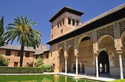 The Partal, The Alhambra, Granada. Partal in view of the Alhambra, Granada, Spain Royalty Free Stock Photo