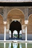 Partal building, Alhambra Palace. Moorish arches in the Partal Gardens, Palace of Alhambra, Granada, Granada Province, Andalusia, Spain, Western Europe Stock Image