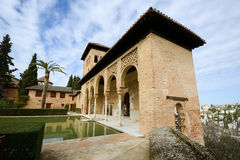 The Partal gardens of Alhambra in Granada Stock Photos