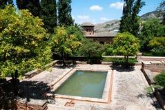 Partal Gardens, Alhambra Palace. Stock Photo