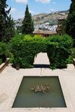 Partal Gardens, Alhambra Palace. Royalty Free Stock Images