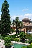 Partal gardens, Alhambra Palace. Royalty Free Stock Image
