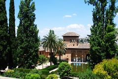 Partal gardens, Alhambra Palace. Stock Images