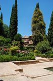 Partal Gardens, Alhambra Palace. Royalty Free Stock Photography
