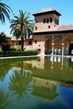 Partal gardens, Alhambra Palace. Royalty Free Stock Photo