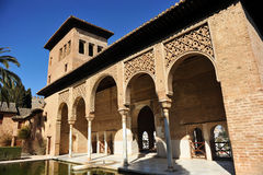 Partal palace, Alhambra in Granada, Spain Royalty Free Stock Photos