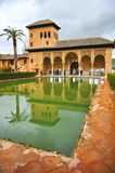 Partal palace, Alhambra in Granada, Spain. Arab architecture, Partal palace located within the grounds of the Alhambra in Granada, Andalucia, Spain Royalty Free Stock Photos