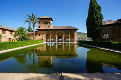 Partal Palace in Alhambra in Granada, Spain. Partal - Palacio del Partal, Alhambra, Granada, Spain stock photo