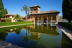 Partal Palace in Alhambra in Granada, Spain. Partal - Palacio del Partal, Alhambra, Granada, Spain stock photography
