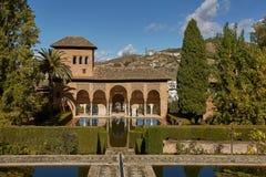 Partal Palace in La Alhambra in Granada, Spain.  Stock Image