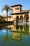 Partal Palace, Palacio de Partal, in Alhambra, Granada, Andalusi Royalty Free Stock Image