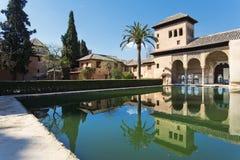 Partal Palace, Palacio de Partal, in Alhambra, Granada, Andalusi Stock Image