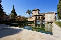 Partal Palace, Palacio de Partal, in Alhambra, Granada, Andalusi Royalty Free Stock Photo