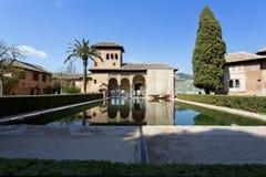 Partal Palace, Palacio de Partal, in Alhambra, Granada, Andalusia royalty free stock photos