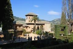 Partal Palace, Palacio de Partal, in Alhambra, Granada, Andalusi Royalty Free Stock Photos