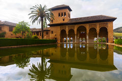Partal palace at Royal complex of Alhambra. GRANADA, SPAIN - MAY 13, 2016: Partal palace at Royal complex of Alhambra.  Granada,  Spain Stock Images