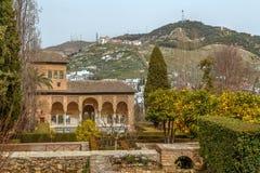 Partalpaleis, Alhambra, Granada Royalty-vrije Stock Afbeeldingen