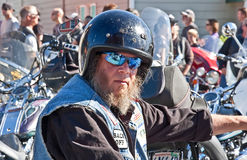 Partcipant Biker of 28th Annual Oyster Stock Photos