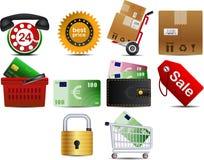 parte 1 dell'icona di Shoping di vettore Immagine Stock