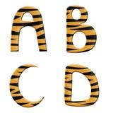 Parte 1 do alfabeto do tigre ilustração do vetor