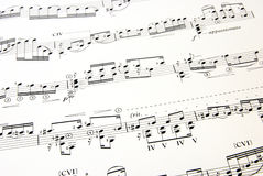 Parte 2 de la música Imagen de archivo