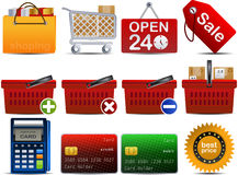 parte 2 do ícone de Shoping do vetor Foto de Stock