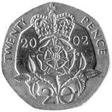 Parte 20p britânica Imagem de Stock