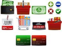 parte 3 do ícone de Shoping do vetor Fotografia de Stock