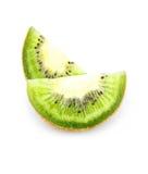 Parte affettata della frutta di Kiwi isolata Fotografia Stock