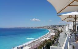 Parte agradable de Francia, opiniones de la playa fotos de archivo libres de regalías
