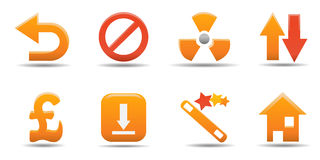 Parte ajustada 8 do ícone do Web Imagem de Stock
