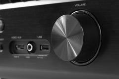 Parte anterior do receptor do avoirdupois com botão do volume imagens de stock royalty free
