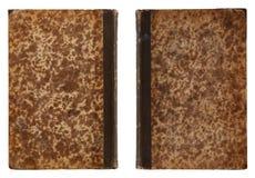 Parte anterior traseira e do livro antigo - Fotografia de Stock