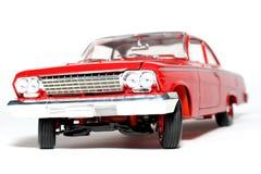 Parte anteriore 1962 dell'automobile del giocattolo della scala del metallo della Chevrolet Belair Fotografia Stock