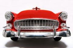 Parte anteriore #2 del fisheye dell'automobile del giocattolo della scala del metallo della Chevrolet 1955 Fotografie Stock Libere da Diritti