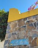 Parte anteriore araba della casa di stile in Spagna Immagine Stock