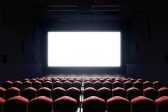 Parte anteriore in bianco dello schermo del cinema Immagine Stock Libera da Diritti