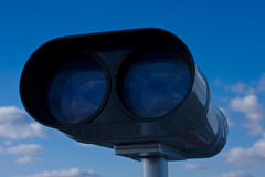 Parte anteriore binoculare a gettoni Immagini Stock