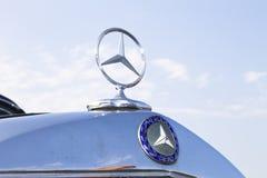 Parte anteriore d'annata del benz di Mercedes Fotografia Stock Libera da Diritti