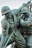 Parte anteriore dei soldati della bandiera di Iwogima Fotografie Stock Libere da Diritti