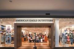 Parte anteriore del deposito dei fornitori di Eagle dell'americano immagini stock libere da diritti