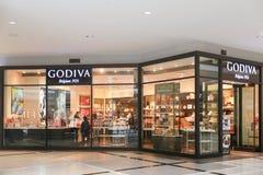 Parte anteriore del deposito di Godiva immagine stock