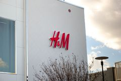 Parte anteriore del deposito di H&M fotografia stock libera da diritti