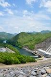 Parte anteriore del generatore di elettricità della diga di Sri Nakharin Immagini Stock