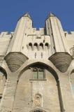 Parte anteriore del palazzo dei papi a Avignon Fotografie Stock