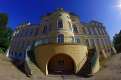 Parte anteriore del palazzo in Rogalin Immagine Stock