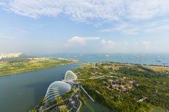 Parte anteriore del porto del paesaggio a Singapore Fotografie Stock